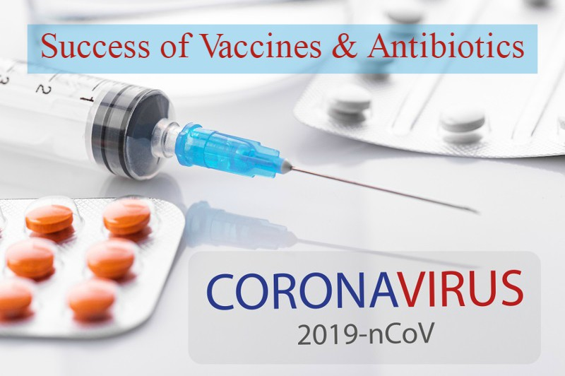 Success of Vaccines & Antibiotics in Coronavirus (COVID-19) Pandemic
