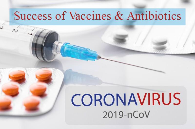 Success of Vaccines & Antibiotics in Coronavirus (COVID-19) Pandemic
